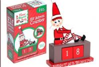 WOODEN Novelty CHRISTMAS Naughty ELF Advent COUNTDOWN TO CHRISTMAS Calendar 6.5""